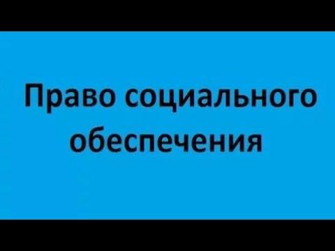 Право социального обеспечения. Лекция 2. Трудовой стаж и пенсионная система России