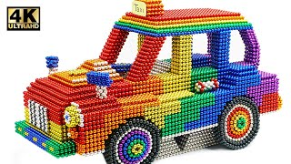 DIY - How To Make Crazy Taxi Car From Magnetic Balls (Satisfying) | Magnet World Series