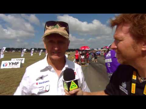 JASON CRUMP CATCHES UP WITH RACING ROYALTY KEVIN SCHWANTZ AT ASBK ROUND 2 WAKEFIELD PARK