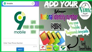 How to add or link national identity number into your 9MOBILE REGISTERED SIMCARDS.