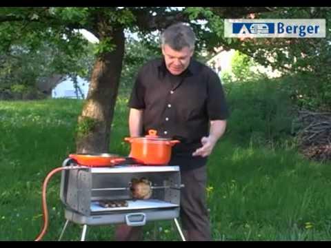 Grill Berger 3-Flammen Koffer-Gasgrill