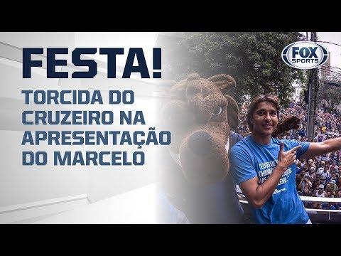 TORCIDA DO CRUZEIRO FAZ FESTA NA APRESENTAÇÃO DO MARCELO MORENO!