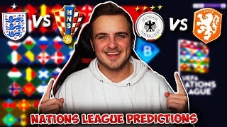 My UEFA Nations League 2018/19 MATCHDAY/GAMEWEEK 6 PREDICTIONS!