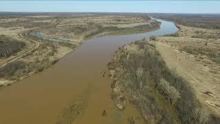 Река Чепца, понтонный мост, Зуевский район 03.05.2020 (DJI Phantom 3 Advanced)