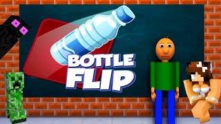 MONSTER SCHOOL : BOTTLE FLIP CHALLENGE TOP 5 EPISODES / Best Minecraft Animations
