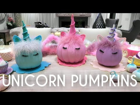 Unicorn Pumpkins - DIY Halloween Decor