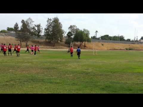 Free kick goal from long range
