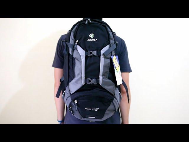 Видео Рюкзак Deuter Trans Alpine 30 black