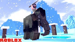 War Mammoth Wrecks Whole Team Adurite Xp Farm Roblox Booga