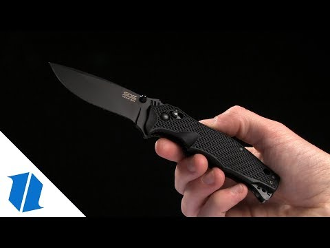 "SOG Vulcan Mini Folding Knife (3"" Black) VL-12"