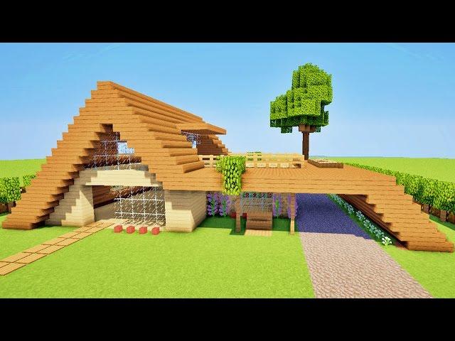 minecraft tuto comment faire une maison moderne facile a faire. Black Bedroom Furniture Sets. Home Design Ideas