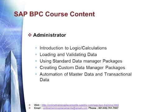 SAP BPC Training | SAP BPC Course - YouTube
