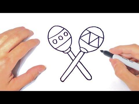 Como Dibujar Maracas Faciles Paso A Paso Dibujos Para Niños A Color