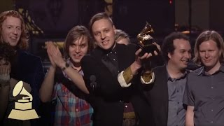 Arcade Fire accepting the GRAMMY for Album of the Year at the 53rd GRAMMY Awards | GRAMMYs