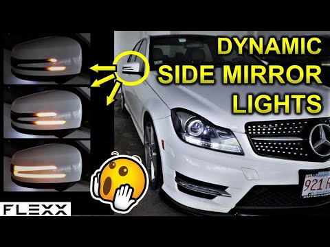 My unique Mercedes C300 DYNAMIC signal mirror lights (Sequential)