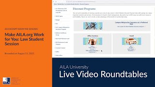 Law Student/Paralegal Portal Overview 2