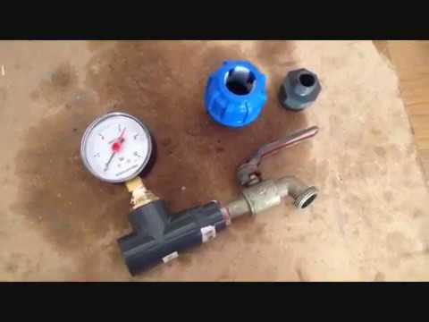 Come misurare la pressione dell'acqua
