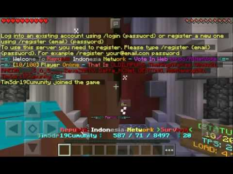 Video Minecraft Pe Tutorial : Cara Register Ke Server
