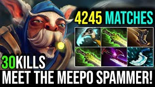 Meet The 4245 Matches Meepo Spammer - MICRO LIKE A GOD 30Kills By Ink-   Dota 2 Highlights