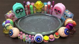 Mixing Random Things into Clear Slime #4 !!! Slimesmoothie Satisfying Slime Videos