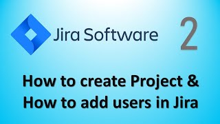 Jira Tutorial Part2 - How to create Project & How to add users in Jira