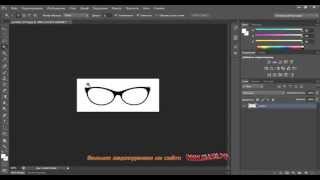 Применение обтравочной маски в Photoshop cs6 на примере линз очков