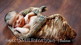 KNITTING TUTORIAL - BABY COCOON