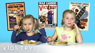 Kids Try American Food From World War II | Kids Try | HiHo Kids