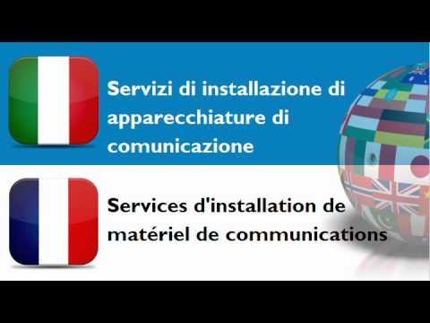 FRANCESE PER ITALIANI = TEMA = Servizi di installazione di attrezzature elettriche e meccaniche