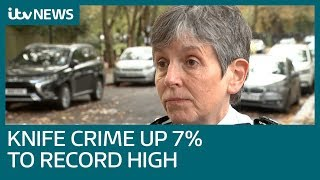 Knife crime hits record high after 7% increase | ITV News