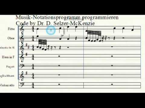 Musik Notationsprogramm programmieren mit Visual Basic