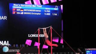 Danell Leyva - High Bar - 2015 World Championships - Event Finals