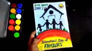 Parents/Family Day Greeting Card   How to make Greeting Card of Internationalday of families