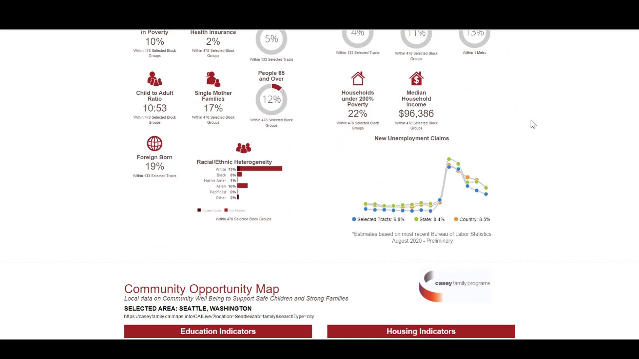 Community Opportunity Map Module 3 with covid data