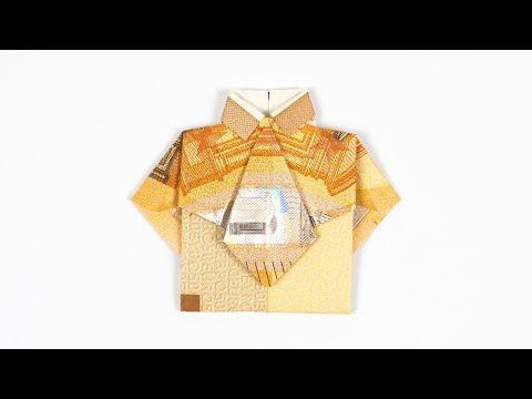 Hemd mit Krawatte aus Geldschein falten, Geldgeschenk zur Hochzeit