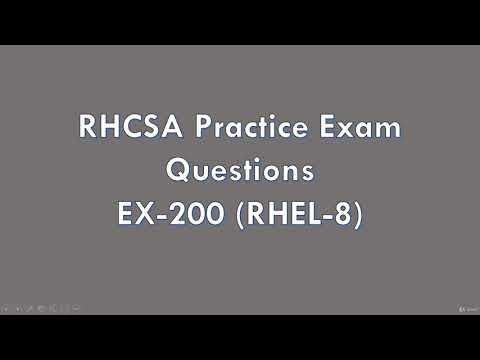 RHCSA Practice Exams Video Course(EX200-RHEL 8 ) - learn ...