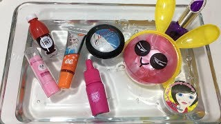 Mixing Makeup into Clear Slime - Satisfying Slime Videos #10 !! Tom Slime | Kholo.pk