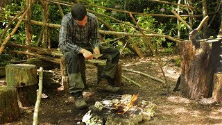 NO WAY!  My Dad has taken over my Bushcraft Camp!!