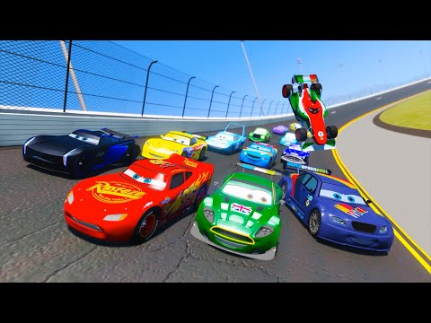 Race Cars 3 Daytona McQueen Jackson Storm Max Schnell Nigel Gearsley Francesco and Friends & Songs