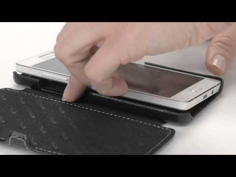 """Handyhülle für Samsung Galaxy A5 """"Book Type"""" mit Clip aus echtem Leder von StilGut"""