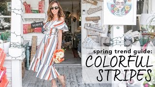 How to Wear STRIPES I Spring Trend Guide