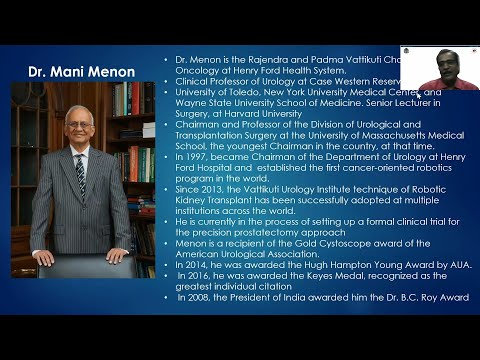 Dr. Mani Menon-SMS Med. Coll. Living Legends