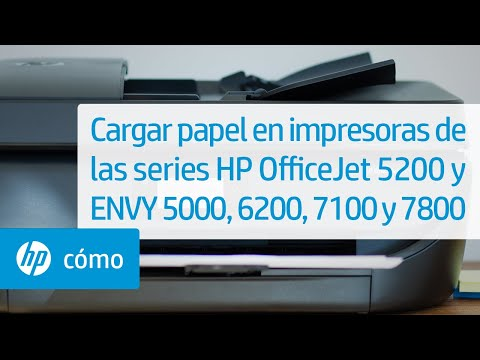Cargar papel en impresoras de las series HP OfficeJet 5200 y ENVY 5000, 6200, 7100 y 7800