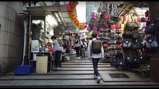 【4K】Walk at Central & Sheung Wan, Hong Kong - Hollywood Road, Man Mo Temple, Dried Seafood Stree
