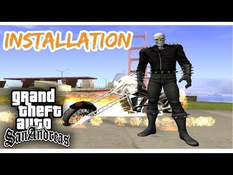 GTA San Andreas How to Install Ghost Rider Mod - смотреть онлайн на