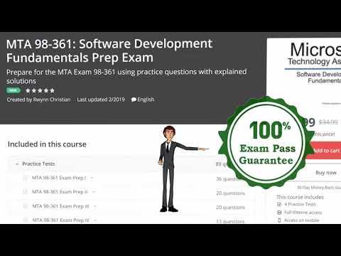 Microsoft MTA 98-361: Software Development Fundamentals ...