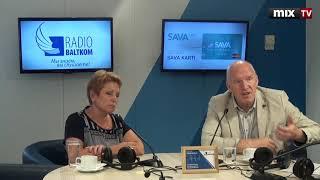 "Ирина Сенникова и Алдис Бауманис в программе ""Разворот"" #MIXTV"