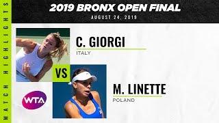 Camila Giorgi vs. Magda Linette   2019 Bronx Open Final   WTA Highlights