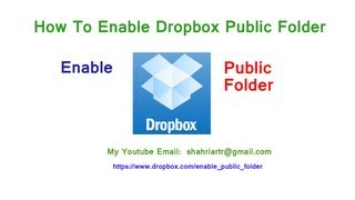 How to Enable Dropbox Public Folder