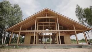 Деревянные дома зимнего проживания. Дом из бруса для зимнего проживания. Энергосберегающий дом.